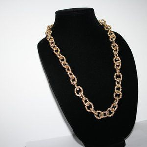 """Vintagejelyfish Jewelry - Long gold chain link necklace 36"""""""